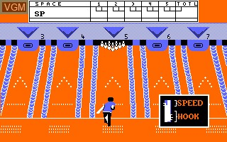 In-game screen of the game 10th Frame on Amstrad CPC