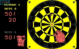 In-game screen of the game 180 Darts on Amstrad CPC