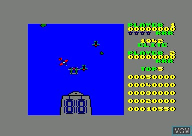 In-game screen of the game 1942 on Amstrad CPC