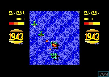 In-game screen of the game 1943 on Amstrad CPC