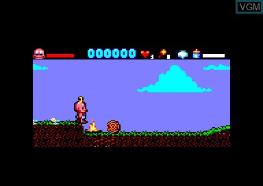 In-game screen of the game Baby Jo - Going Home on Amstrad CPC