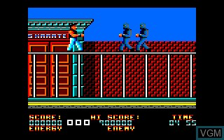 In-game screen of the game Bad Dudes Vs Dragon Ninja on Amstrad CPC