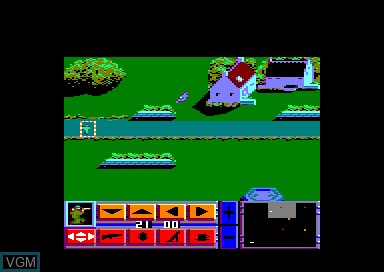 In-game screen of the game D-Day on Amstrad CPC