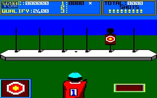In-game screen of the game Daley Thompson's Supertest on Amstrad CPC