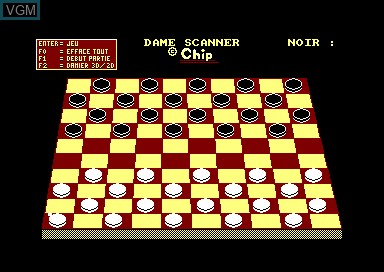In-game screen of the game Dame Scanner on Amstrad CPC
