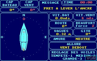 In-game screen of the game Damstar on Amstrad CPC
