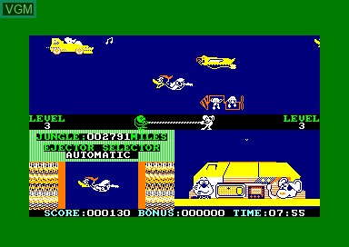 In-game screen of the game Danger Mouse In Double Trouble on Amstrad CPC
