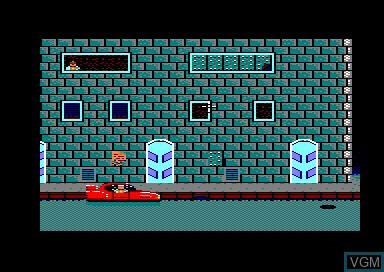 In-game screen of the game Danger Street on Amstrad CPC