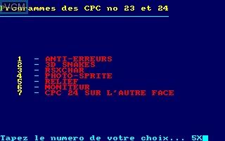 Disque CPC No 14 - Programmes des CPC No 27 et 28