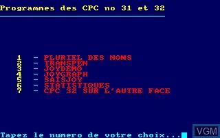Disque CPC No 16 - Programmes des CPC No 31 - 32