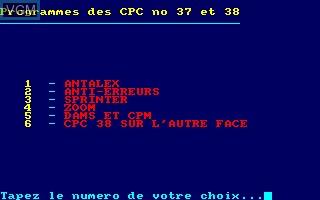 Disque CPC No 19 - Programmes des CPC No 37 - 38