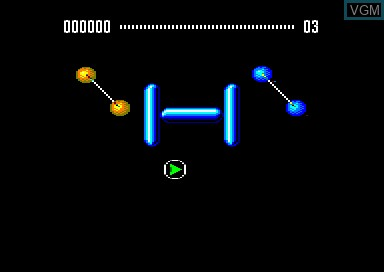 In-game screen of the game E-Motion on Amstrad CPC