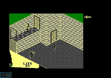 In-game screen of the game Fairlight - A Prelude on Amstrad CPC
