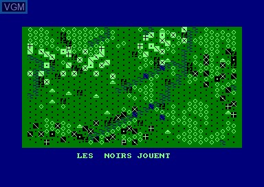 In-game screen of the game 1815 on Amstrad CPC
