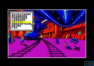 In-game screen of the game B.A.T. on Amstrad CPC