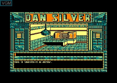 In-game screen of the game Dan Silver - Le Dernier Espoir on Amstrad CPC