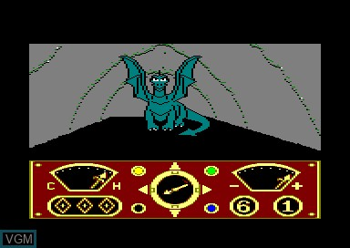 In-game screen of the game Eidolon, The on Amstrad CPC