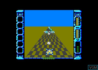 In-game screen of the game Eliminator on Amstrad CPC