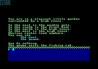 In-game screen of the game Fantasia Diamond on Amstrad CPC