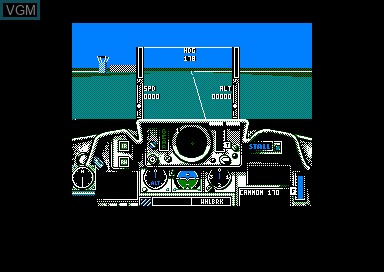 In-game screen of the game Fighter Bomber on Amstrad CPC