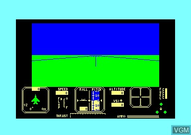 In-game screen of the game Fighter Pilot on Amstrad CPC