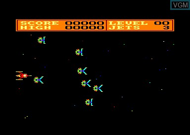 In-game screen of the game Galaxia on Amstrad CPC