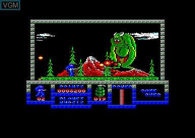 In-game screen of the game Game Over on Amstrad CPC