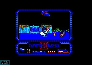 In-game screen of the game Game Over II on Amstrad CPC