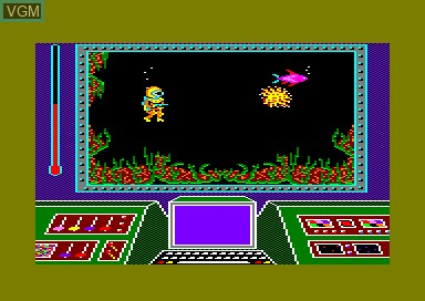 In-game screen of the game Great Barrier Reef, The on Amstrad CPC