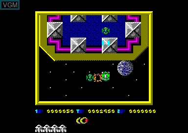 In-game screen of the game Sabotage on Amstrad CPC