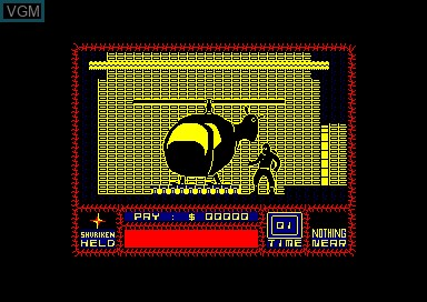 In-game screen of the game Saboteur on Amstrad CPC