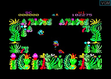 In-game screen of the game Sabre Wulf on Amstrad CPC