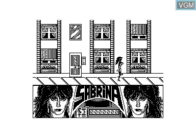 In-game screen of the game Sabrina on Amstrad CPC
