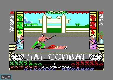 In-game screen of the game Sai Combat on Amstrad CPC