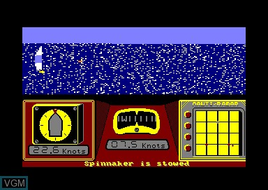 In-game screen of the game Sailing on Amstrad CPC