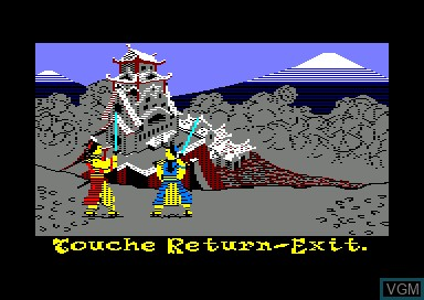 In-game screen of the game Samurai Trilogy on Amstrad CPC