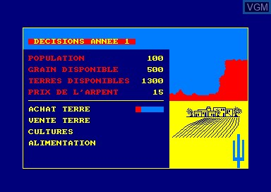 In-game screen of the game San Pablo on Amstrad CPC