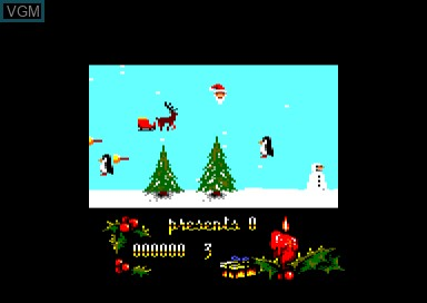 In-game screen of the game Santa's Christmas Capers on Amstrad CPC