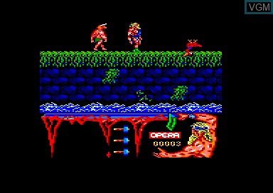 In-game screen of the game Ulises on Amstrad CPC