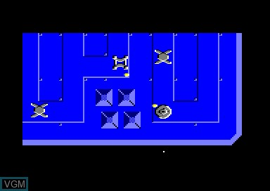 In-game screen of the game Unitrax on Amstrad CPC