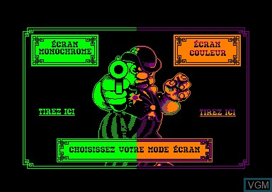 In-game screen of the game Westphaser on Amstrad CPC
