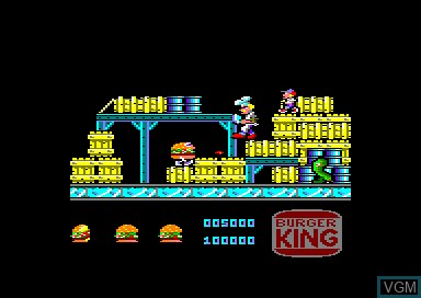 In-game screen of the game Whopper Chase on Amstrad CPC