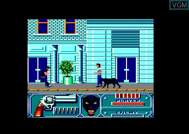 In-game screen of the game Wild Streets on Amstrad CPC