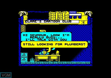 In-game screen of the game Wild West Seymour on Amstrad CPC