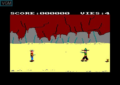 In-game screen of the game Winchester on Amstrad CPC