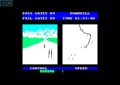 In-game screen of the game Winter Sports on Amstrad CPC