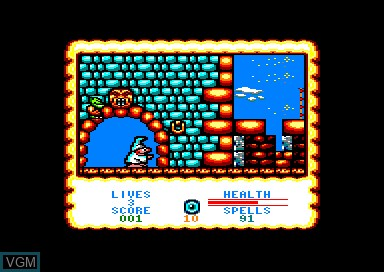 In-game screen of the game Wizard Willy on Amstrad CPC