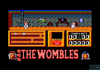 In-game screen of the game Wombles on Amstrad CPC