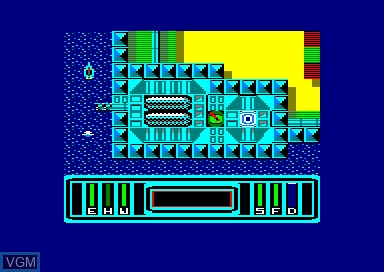 In-game screen of the game Xarq on Amstrad CPC