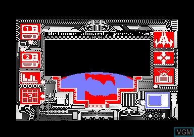 In-game screen of the game Xcel on Amstrad CPC